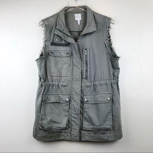 Leith Utility Cargo Vest, Light Olive